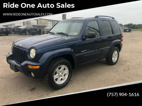 2002 Jeep Liberty for sale at Ride One Auto Sales in Norfolk VA