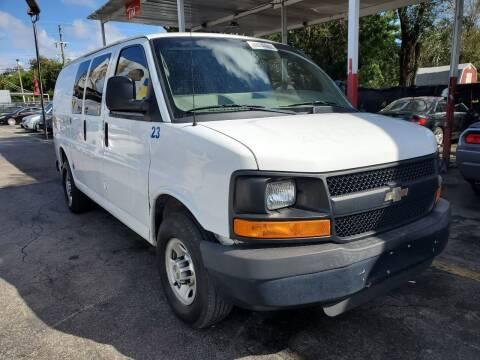 2013 Chevrolet Express Cargo for sale at America Auto Wholesale Inc in Miami FL