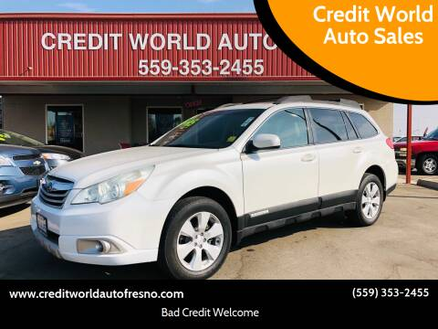 2010 Subaru Outback for sale at Credit World Auto Sales in Fresno CA