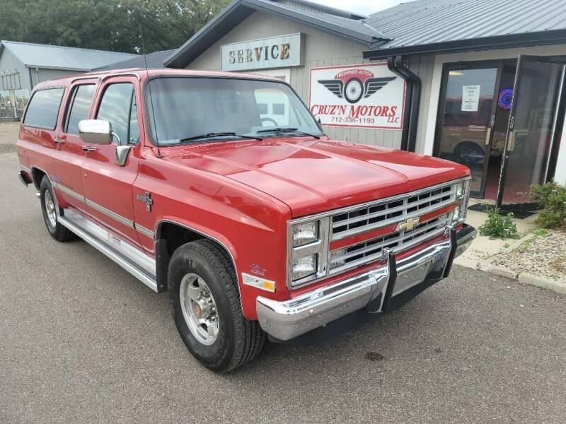 1988 Chevrolet Suburban for sale at CRUZ'N MOTORS - Classics in Spirit Lake IA