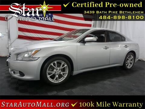 2014 Nissan Maxima for sale at STAR AUTO MALL 512 in Bethlehem PA