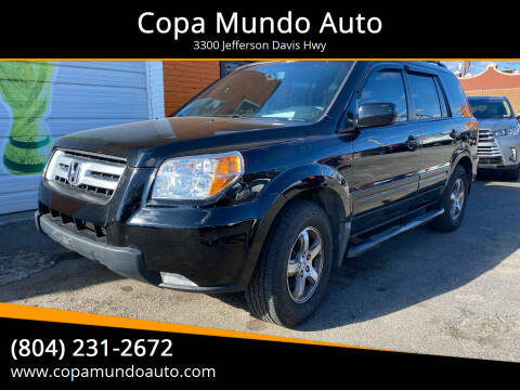 2007 Honda Pilot for sale at Copa Mundo Auto in Richmond VA