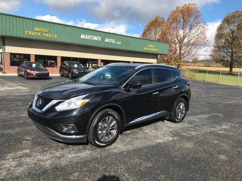 2016 Nissan Murano for sale at Martin's Auto in London KY