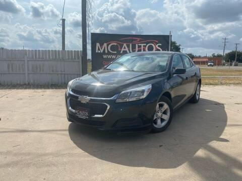 2015 Chevrolet Malibu for sale at MC Autos LLC in Pharr TX