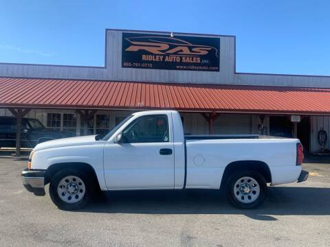 2006 Chevrolet Silverado 1500 for sale at Ridley Auto Sales, Inc. in White Pine TN