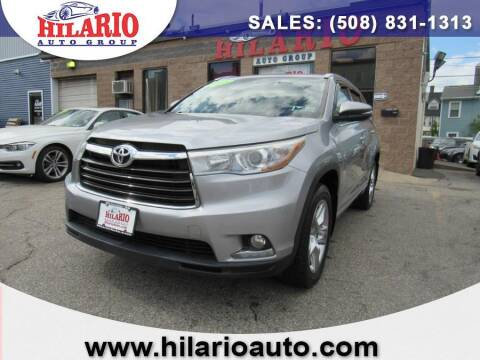 2015 Toyota Highlander for sale at Hilario's Auto Sales in Worcester MA
