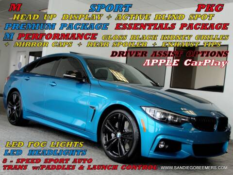 2018 BMW 4 Series for sale at SAN DIEGO BEEMERS in San Diego CA