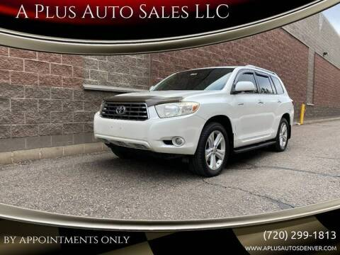 2008 Toyota Highlander for sale at A Plus Auto Sales LLC in Denver CO