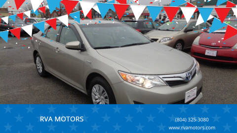 2013 Toyota Camry Hybrid for sale at RVA MOTORS in Richmond VA