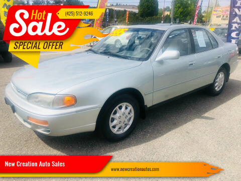 1995 Toyota Camry for sale at New Creation Auto Sales in Everett WA