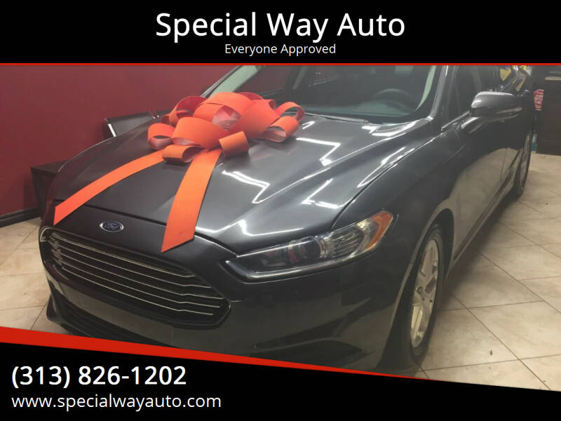 2016 Ford Fusion for sale at Special Way Auto in Hamtramck MI