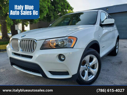 2012 BMW X3 for sale at Italy Blue Auto Sales llc in Miami FL