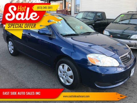 2007 Toyota Corolla for sale at EAST SIDE AUTO SALES INC in Paterson NJ