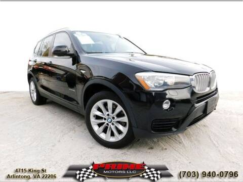 2015 BMW X3 for sale at PRIME MOTORS LLC in Arlington VA