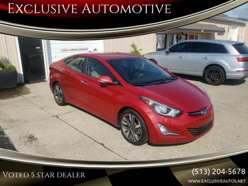 2014 Hyundai Elantra for sale at Exclusive Automotive in West Chester OH