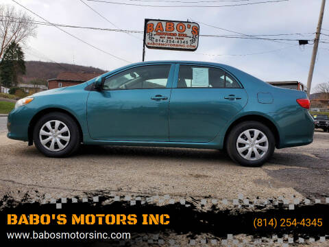 2010 Toyota Corolla for sale at BABO'S MOTORS INC in Johnstown PA