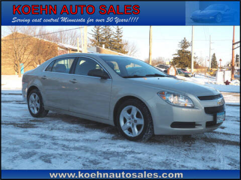 2012 Chevrolet Malibu for sale at Koehn Auto Sales in Lindstrom MN