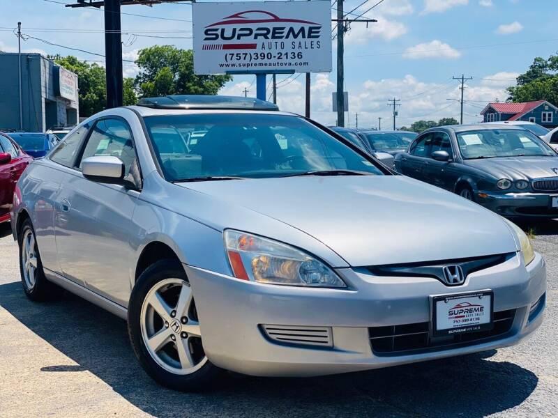 2003 Honda Accord for sale at Supreme Auto Sales in Chesapeake VA