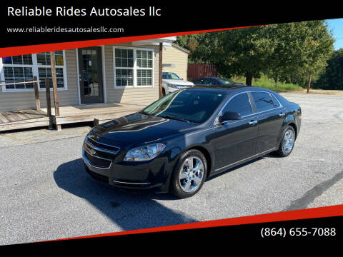 2012 Chevrolet Malibu for sale at Reliable Rides Autosales llc in Greer SC