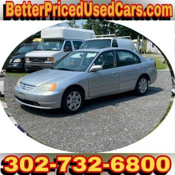 2002 Honda Civic for sale at Better Priced Used Cars in Frankford DE