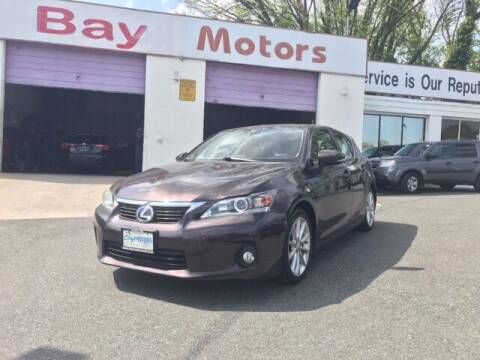 2013 Lexus CT 200h for sale at Bay Motors Inc in Baltimore MD