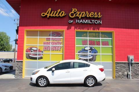 2014 Kia Rio for sale at AUTO EXPRESS OF HAMILTON LLC in Hamilton OH