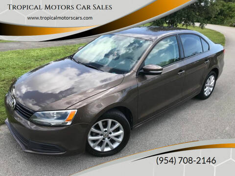 2012 Volkswagen Jetta for sale at Tropical Motors Car Sales in Deerfield Beach FL