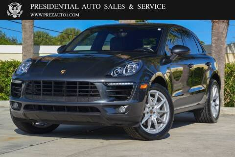 2017 Porsche Macan for sale at Presidential Auto  Sales & Service in Delray Beach FL