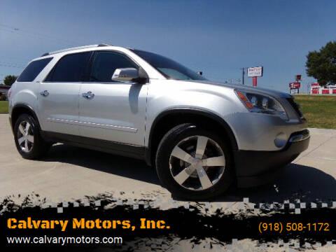 2011 GMC Acadia for sale at Calvary Motors, Inc. in Bixby OK