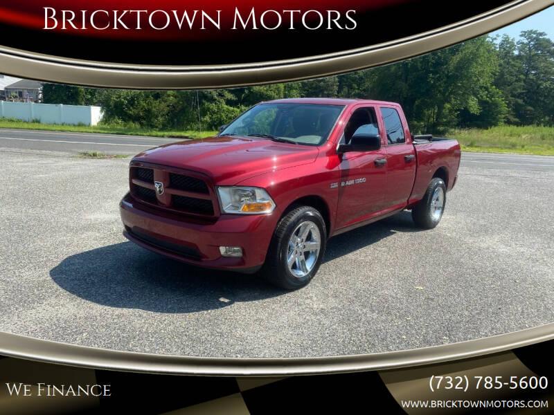 2012 RAM Ram Pickup 1500 for sale at Bricktown Motors in Brick NJ