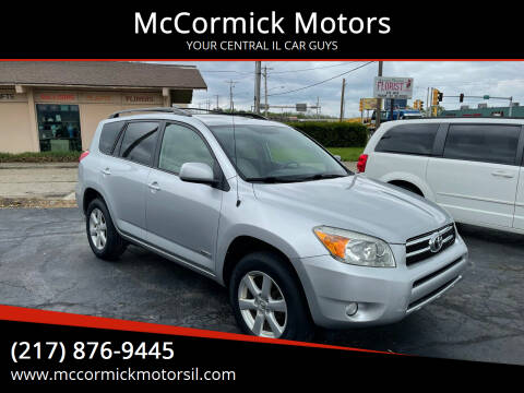 2008 Toyota RAV4 for sale at McCormick Motors in Decatur IL