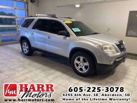 2012 GMC Acadia for sale at Harr's Redfield Ford in Redfield SD