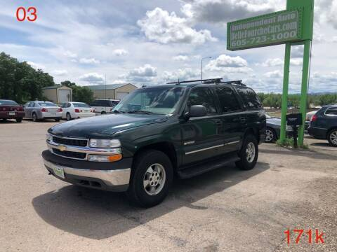 2003 Chevrolet Tahoe for sale at Independent Auto in Belle Fourche SD