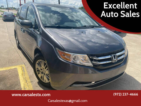 2016 Honda Odyssey for sale at Excellent Auto Sales in Grand Prairie TX