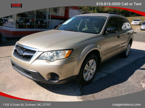 2008 Subaru Outback for sale at CRAIGE MOTOR CO in Durham NC