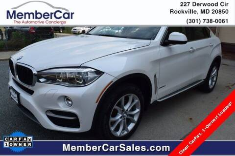 2015 BMW X6 for sale at MemberCar in Rockville MD