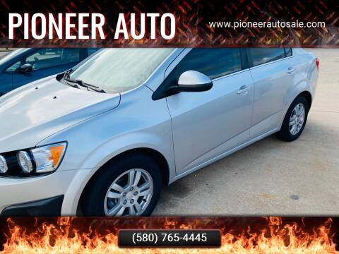 2016 Chevrolet Sonic for sale at Pioneer Auto in Ponca City OK