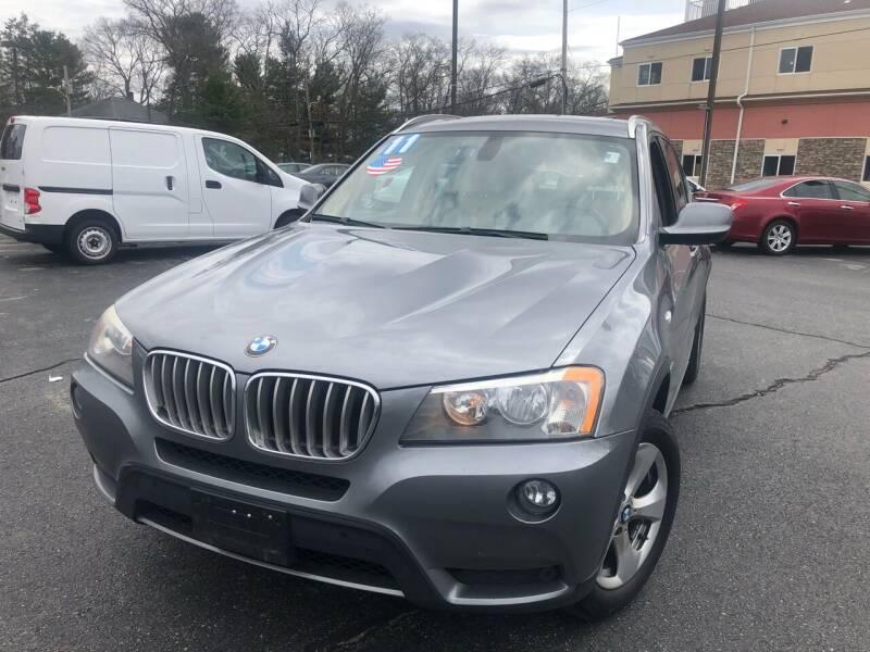 2011 BMW X3 for sale at M & J Auto Sales in Attleboro MA