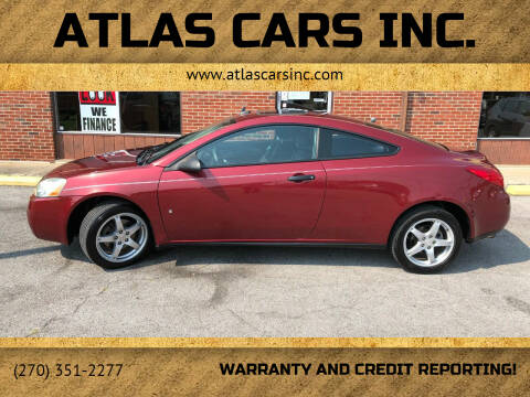 2009 Pontiac G6 for sale at Atlas Cars Inc. - Elizabethtown Lot in Elizabethtown KY