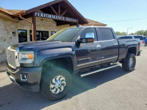 2016 GMC Sierra 2500HD for sale at Performance Motors Killeen Second Chance in Killeen TX
