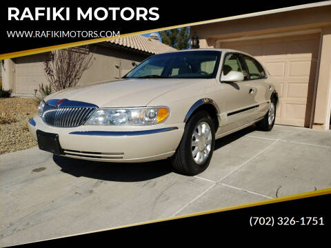 2000 Lincoln Continental for sale at RAFIKI MOTORS in Henderson NV
