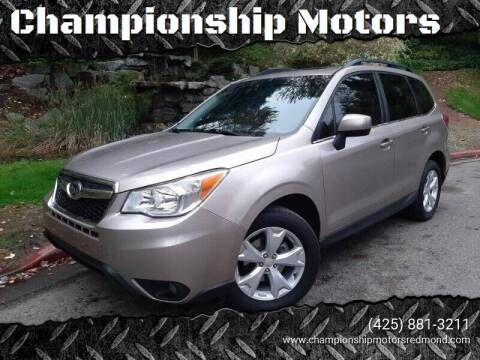2015 Subaru Forester for sale at Mudarri Motorsports - Championship Motors in Redmond WA