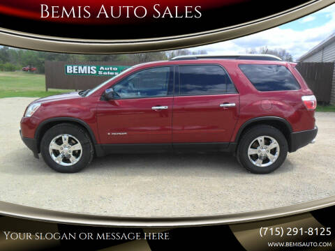 2007 GMC Acadia for sale at Bemis Auto Sales in Crivitz WI