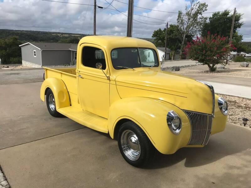 1940 Ford F1 for sale at Mafia Motors in Boerne TX