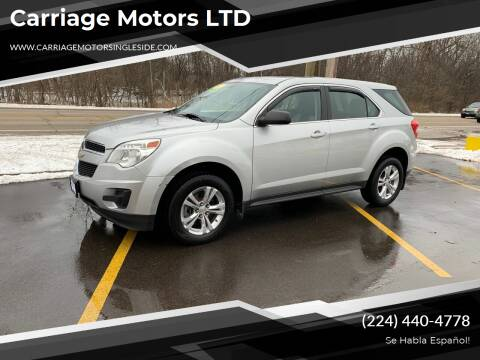 2011 Chevrolet Equinox for sale at Carriage Motors LTD in Ingleside IL