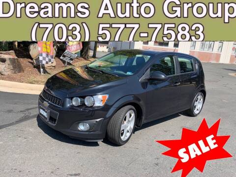 2013 Chevrolet Sonic for sale at Dreams Auto Group LLC in Sterling VA
