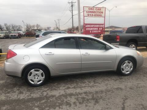 2006 Pontiac G6 for sale at OKC CAR CONNECTION in Oklahoma City OK