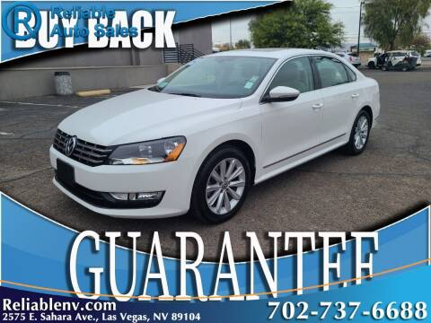 2012 Volkswagen Passat for sale at Reliable Auto Sales in Las Vegas NV