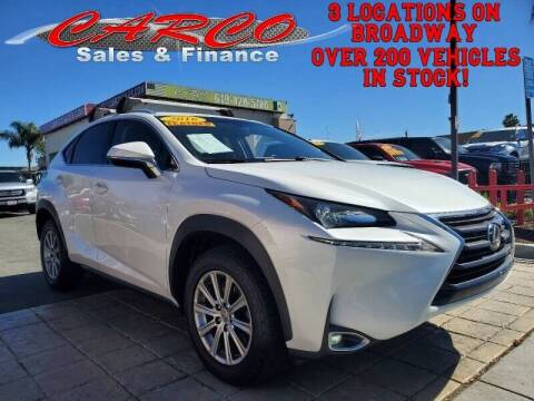 2016 Lexus NX 200t for sale at CARCO SALES & FINANCE in Chula Vista CA