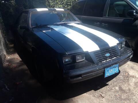 1984 Ford Mustang for sale at Goleta Motors in Goleta CA